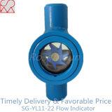 Kolben-Schweißens-Rohrleitung-passender Gas-Fluss-Anzeiger mit Paddel-Rad
