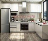 Bianco armadietto della cucina di Lacqure dei due pacchetti (ZHUV)