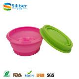 BPA livram o jogo dobrável Washable colorido de viagem flexível da bacia do silicone
