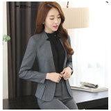 Baumwollformale Blazer-Frauen-Anzüge 100%