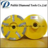Meule diamant de meulage abrasive de résine de segment de rectifieuse en pierre concrète de main