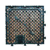 Non-Slip 혁신적인 저가 옥외 Porche는 목제 보기 회색 색깔 도와 그림 바닥 깔개를 조립한다