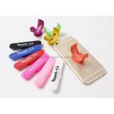 Sostenedor elegante del teléfono móvil de la etiqueta engomada del silicón los 3m para los regalos promocionales
