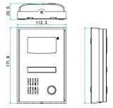 Videocamera HD 2 fili Villa videocitofono campanello per porte