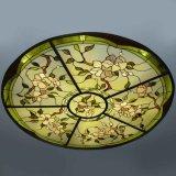 De architectuur werpt de Buitengewoon brede CirkelKoepel van het Gebrandschilderd glas met Basis af