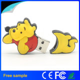 Movimentação encantadora do flash do USB do urso de Winnie do logotipo feito sob encomenda 2D