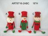 """18 """" H Santa y decoración Gift-3asst de la Navidad del bolso del vino del muñeco de nieve"""