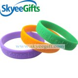 Bracelet de sport de silicones gravé en relief par livraison rapide