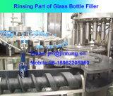 Máquina de rellenar del alcohol automático de la botella de cristal para el casquillo de aluminio