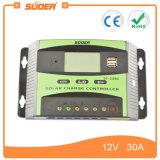 Suoer 12V 30A 두 배 USB 공용영역 (ST-C1230)를 가진 태양 지적인 비용을 부과 힘 관제사