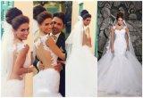 Sirène de vente Dresse Wedding nuptiale (ALSW011) de train de 2015 lacets la meilleure