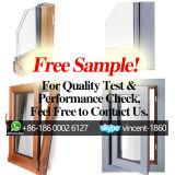Ventana de aluminio del marco de madera sólida de la muestra libre