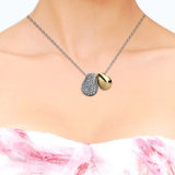 Het Kristal van de Juwelen van het lot van de de Gelukkige Tegenhanger & Halsband van de Boon Swarovski