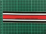 Alto nastro elastico tessuto colore su ordinazione del poliestere di elasticità per la biancheria intima