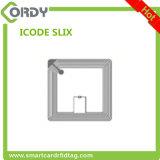 Etiqueta de la escritura de la etiqueta del papel en blanco de la ISO 15693 ICODE SLIX RFID para los libros de la biblioteca