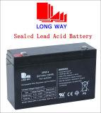 6V14ah Stoarge wartungsfreie Batterie für elektrische Fackel mit kundenspezifischem Terminal