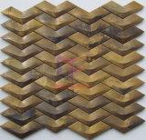 Mattonelle di mosaico del rame del metallo di forma di v per la parete soltanto (CFM1085)