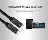 Thunderbolt Full Function USB3.1 USB C para USB C