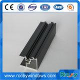 Perfil de alumínio anodizado preto rochoso para janelas deslizantes e porta