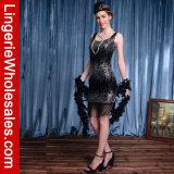 Сексуальное платье вечера язычка рубчика Tassel Sequin 1920s женщин