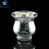 Золотистая гальванизированная стеклянная ваза для домашнего украшения
