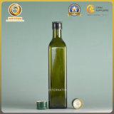 Leere quadratische dunkelgrüne Olivenöl-Glasflaschen-kochendes Öl-Glasflasche (472)