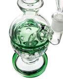 Buntes Showerhead Circ Perc Faberge Ei-rauchendes Wasser-Glasrohr (ES-GB-523)