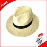 Шлем черного бумажного Fedora Панамы сторновки Unisex
