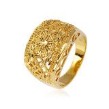 Het Goud van de Juwelen van de manier 18k plateerde Mooie Namaakbijouterie Dame Finger Ring