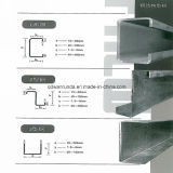 Mlle Slotted U Steel Channel Galvanized ou Natural Surface