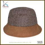 Cappello poco costoso in bianco normale su ordinazione della protezione della benna della canapa del Brown