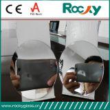 Miroir argenté clair et teinté de forme d'Iregular