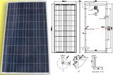 18V 135W 140W 145W 150W System Solar System Light Panel Module con TUV Approved