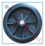 Alta rotella di gomma solida del macchinario di capienza di caricamento con l'orlo del ghisa