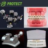 Зубоврачебные Bondable ортодонтические кронштейны с крюком