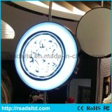 屋外の円形のLEDによって照らされるプラスチック真空のライトボックス