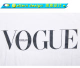 Maglietta rotonda su ordinazione della parte inferiore della curva della paletta di stampa
