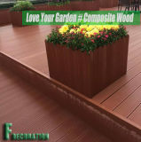 Decking en bois composé extérieur réutilisé du plastique WPC