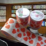 中心はトイレットペーパーのカスタム押印のトイレットペーパータオルを印刷した