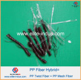 Macrofiber Polypropylene pp Twist Blend Mix Hybrid Fibrillated Fiber 54mm