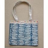 Le sac à provisions pliable réutilisable fait sur commande de tissu de coton, tirette ordinaire d'emballage met en sac 3 couleurs