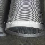 Puits d'eau d'écran de fil de cale d'acier inoxydable forant le filtre pour puits continu de fente de Johnson