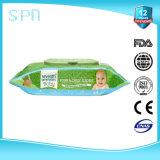 100%Bamboo 80PCS Skincare очищая влажные влажные Wipes младенца