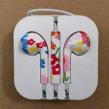 Горячим наушник цветка в-Уха сбывания покрашенный печатание для iPhone