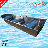 el 15FT todo el barco de pesca de aluminio soldado con la capa cuadrada del Gunwale y del caucho