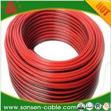 Fil/câble sonores de haut-parleur de PVC Salut-Fin noire/rouge de câble cuivre