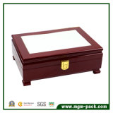Retro Solid Wood Jewelry Storage Box with Lock