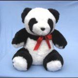Giocattoli svegli dell'animale farcito del panda in pelle di pecora naturale