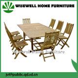 Мебель сада напольной мебели твердой древесины складывая
