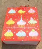 Bolsos modificados para requisitos particulares del regalo del papel de imprenta del cumpleaños del brillo del diseño